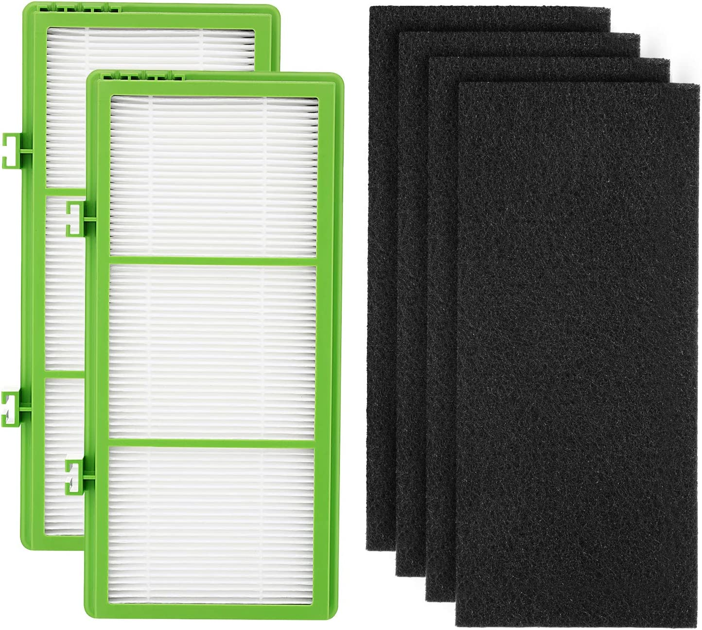 Cabiclean Replacement 2 HEPA Air Filter + 4 Pre Filter for Holmes AER1 Series Air Filter, Compatible Parts # HAPF300AH-U4R, HAP242-NUC