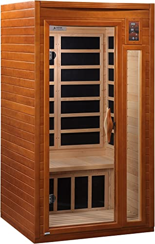DYNAMIC SAUNAS AMZ-DYN-6106-01 Barcelona 1-2 Person Far Infrared Sauna – Curbside Shipping