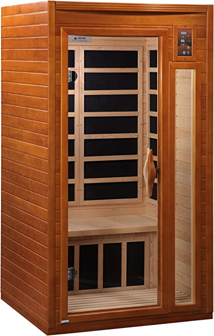 Amazon Com Dynamic Saunas Amz Dyn 6106 01 Barcelona 1 2 Person Far Infrared Sauna Curbside Shipping Garden Outdoor