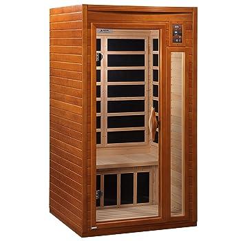 dynamic saunas amz-dyn-6106-01 barcelona 1-2 person far infrared sauna