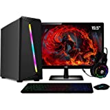 PC Gamer Completo AMD 10-Core CPU 3.8Ghz 8GB (Placa de vídeo Radeon R5 2GB) SSD e HD 2TB Kit Gamer Skill Monitor HDMI LED 19.