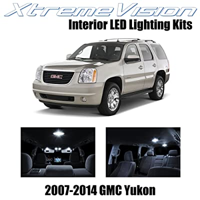 Xtremevision Interior LED for GMC Yukon 2007-2014 (12 Pieces) Pure White Interior LED Kit + Installation Tool: Automotive