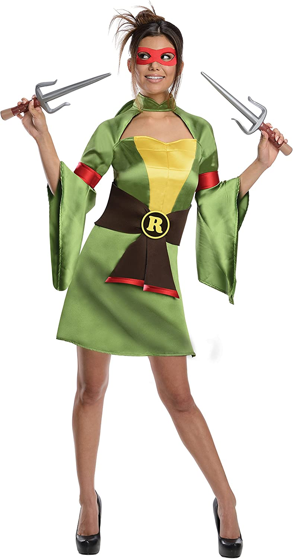 Secret Wishes Teenage Mutant Ninja Turtles, Raphael Costume, Green