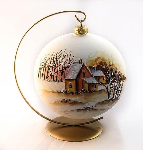 15,24 cm pintado por artistas Papá Noel plus Protector de pantalla de cristal pie