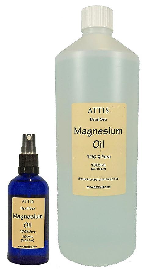 ATTIS aceite de magnesio mar muerto 100ML + 1000ML