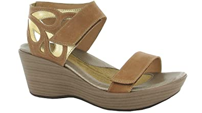 93b168fa0bc6 NAOT Women s Latte Brown Gold Leather Intrigue 6 B(M) US