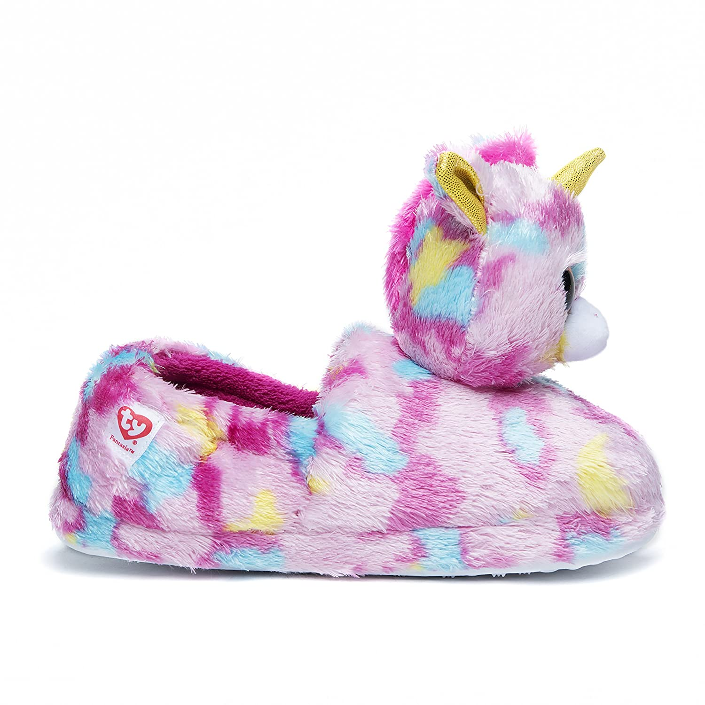 TY Girl s Beanie Boo Slippers Fantasia Small 10 11 Amazon