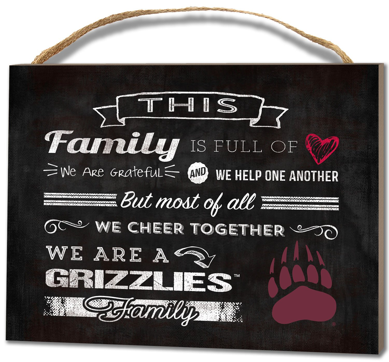 KH Sports Fan 4''X5.5'' Montana Grizzlies Family Cheer Small College Plaque
