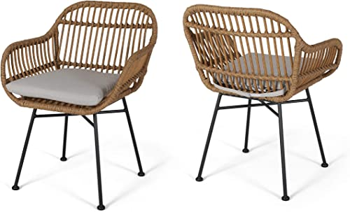 Christopher Knight Home Rodney Indoor Woven Faux Rattan Chairs