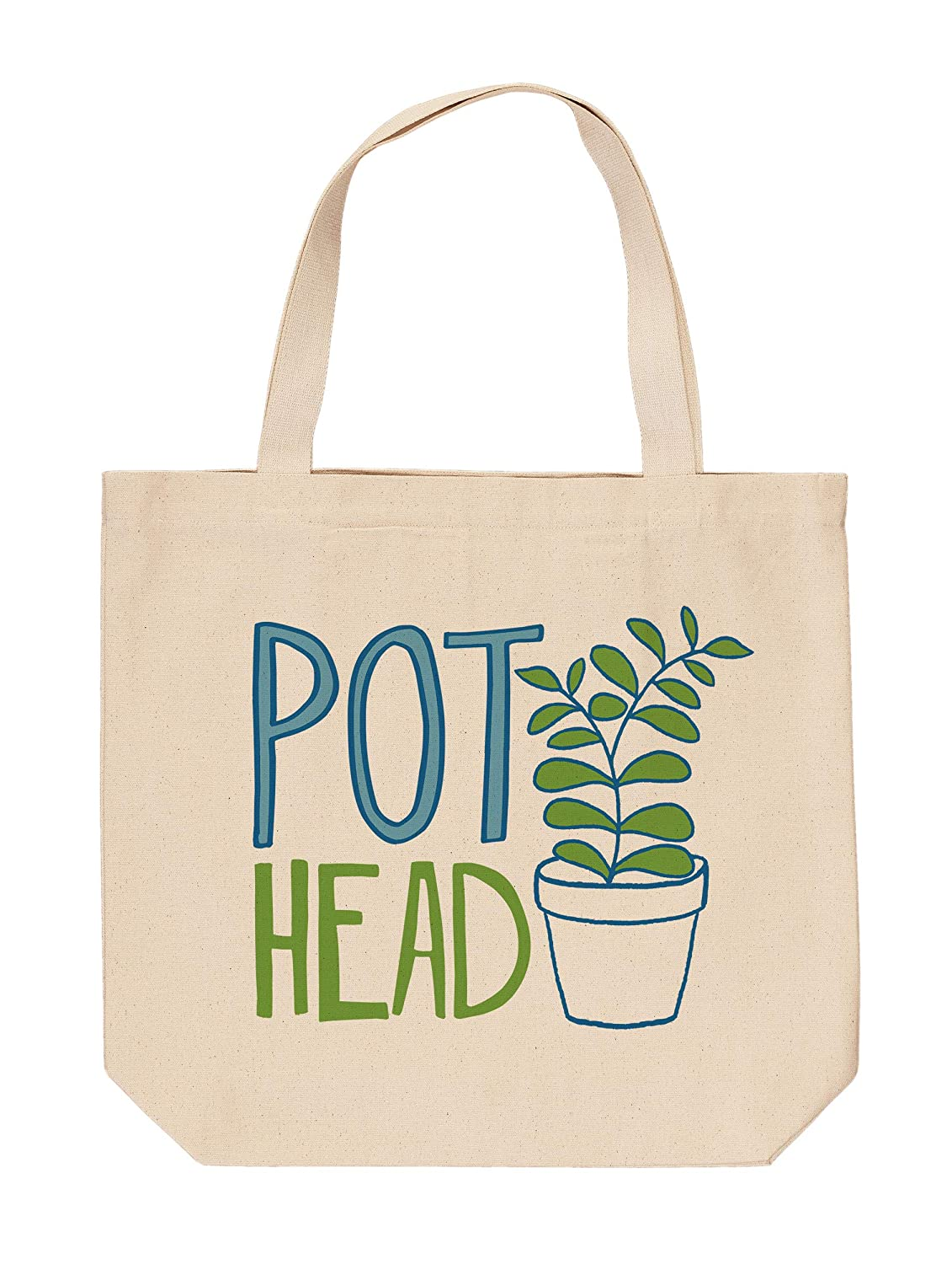 b39fc06798a1 Amazon.com: Studio M Garden Dirt Pot Head Large Canvas Tote Shopping ...