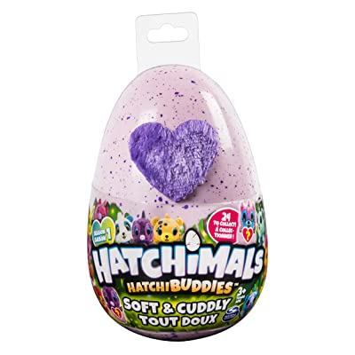 "Hatchimals HatchiBuddies – 6"" Tall Plush with Egg (Styles May Vary): Toys & Games"