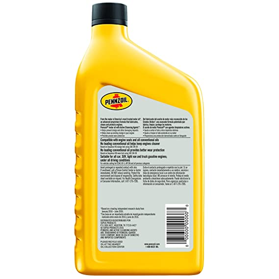 Amazon.com: Pennzoil 25W-50 Racing Oil, GT Performance Oil – 1 Quart (Case of 12): Automotive