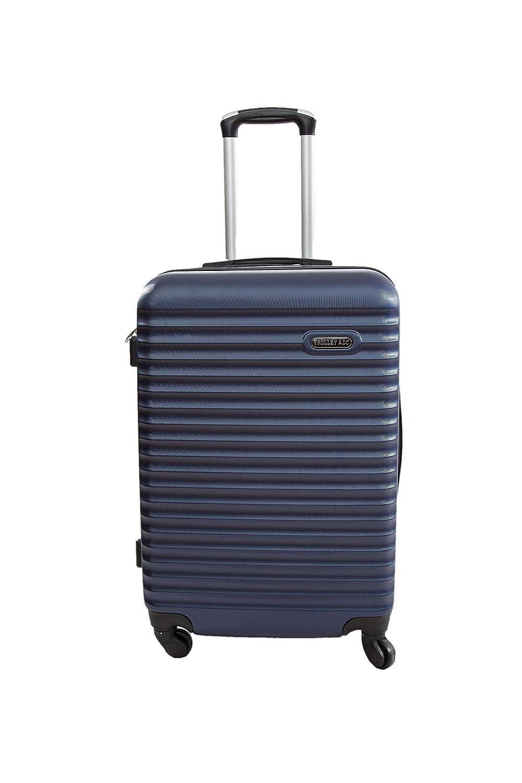 Valise Moyenne 4 Roues 65cm ABS Rigide Classiq Trolley ADC Bleu