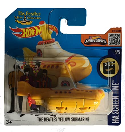 Amazon.com: Hot Wheels The Beatles Yellow Submarine (International ...