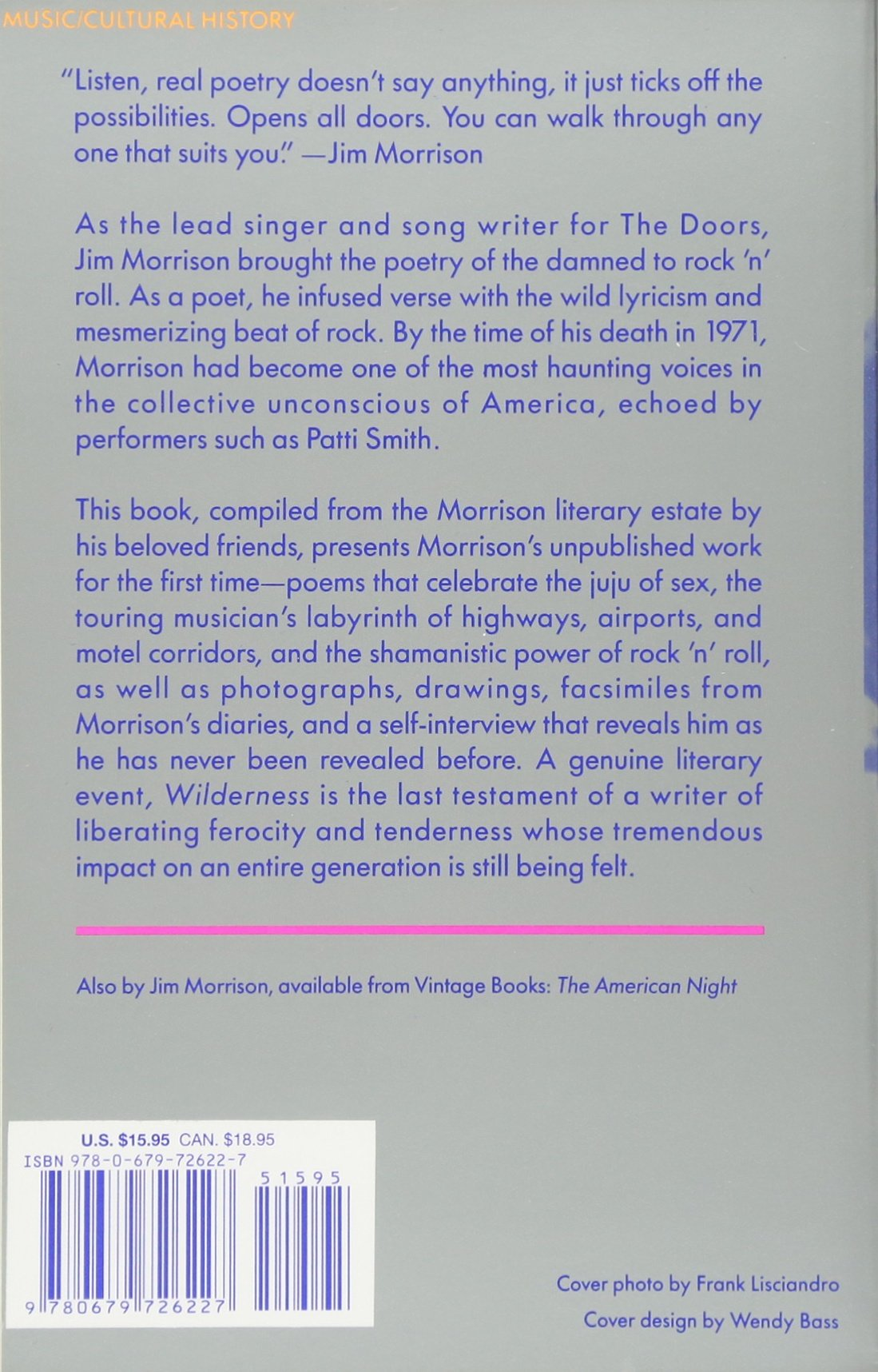 jim morrison wilderness poems pdf