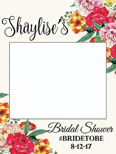 Custom Floral Wedding Photo Booth Frame