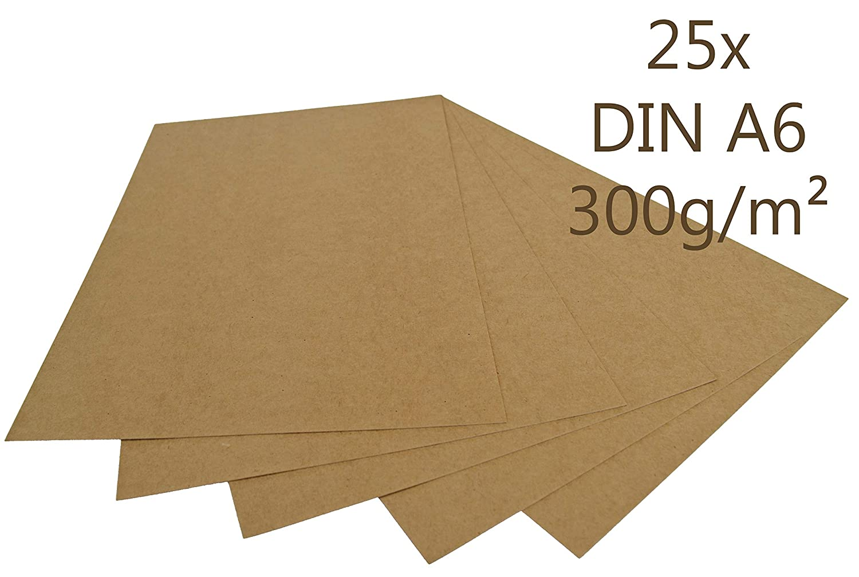 Papermane - Papel de estraza (25 unidades, DIN A6, 300 g/m2 ...