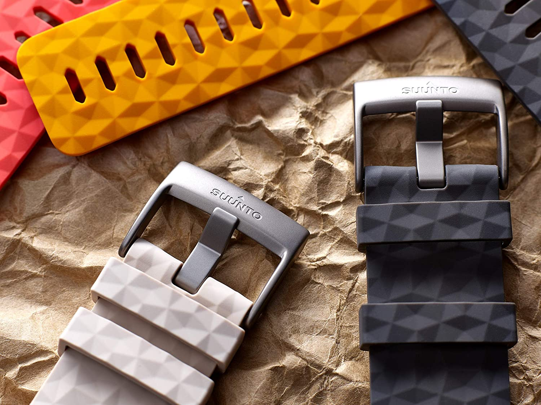 Suunto SS050012000 Correa de sustitución original para todos los relojes Suunto Spartan Sport Wrist HR, silicona, largo: 22,3 cm, ancho: 24 mm, ...
