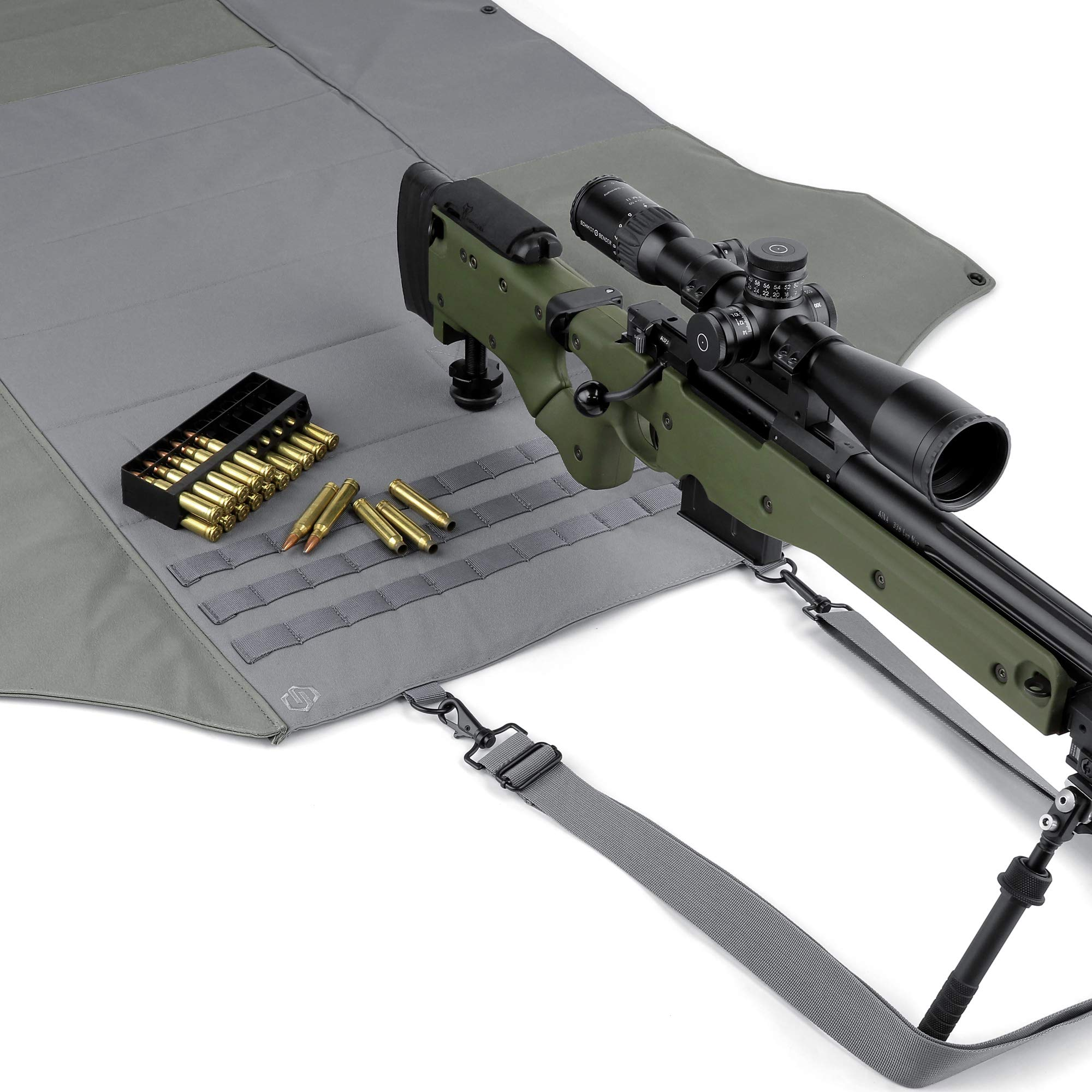 Savior Equipment Tactical Deluxe Padded Quick Release All-Purpose Shooting Mat - Anti-Slippery, Roll-Up Style w/Carrying Handle by Savior Equipment