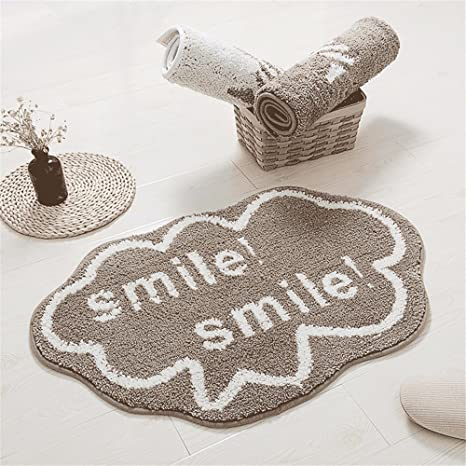 XXSZKAA Nordic Modern Dark Carpet Living Room Bedroom Door Mat Ottomans Bathroom Door Mat Bathroom Mat & Amazon.com : XXSZKAA Nordic Modern Dark Carpet Living Room Bedroom ...