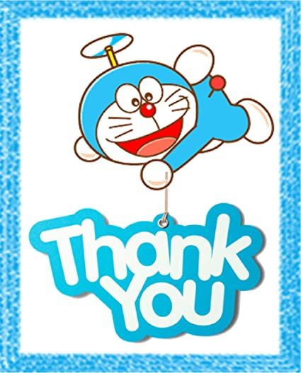 Doraemon Theme Thank You Tags 10 Pieces For Party