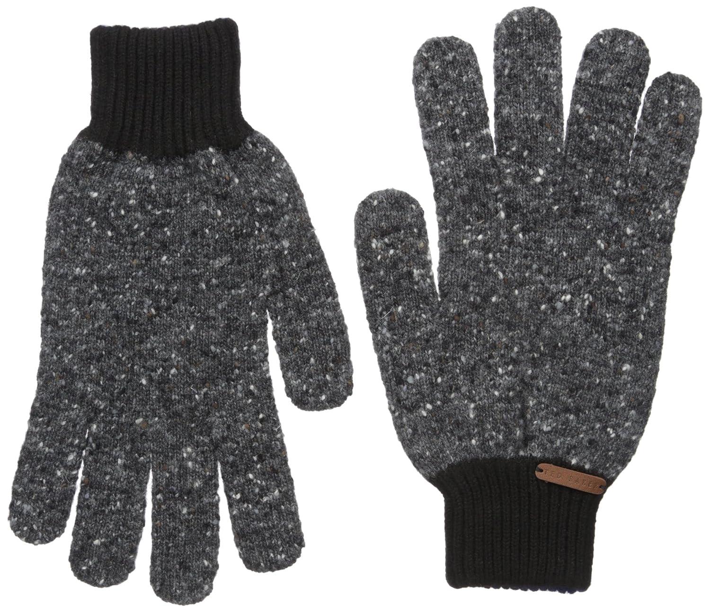 Ted Baker Men's Oakglo Donegal Knitted Glove Charcoal One Size XA7M-XG12-OAKGLO