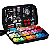Sewing Kit, Diy Handmade Craft Sewing and Repair Kit Supplies with 99 Essential Tools in Zip Box Include Thimble, Thread, Nee