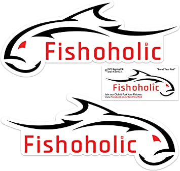 6-22 Fish Hunter Decal sticker for car window laptop wall Die cut on a lake river ocean fish 5