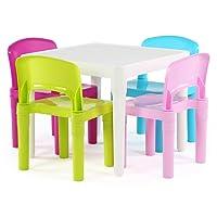 Tot Tutors TC911 Kids Table and 4-Chair Set, Plastic