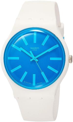 Swatch Reloj Analógico para Hombre de Cuarzo con Correa en Silicona SUOW163: Amazon.es: Relojes