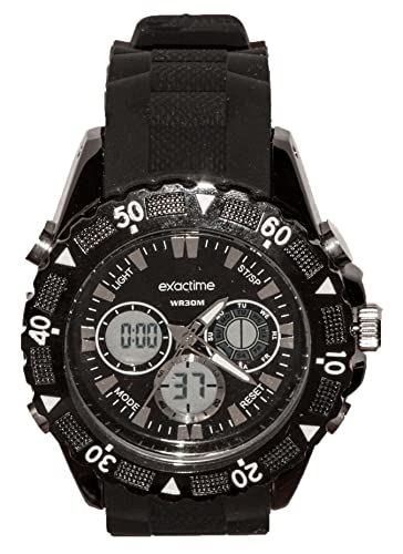 EXACTIME 2912 NEGRO - Reloj Deportivo resistente al agua Unisex - Análogo/ Digital: Amazon.es: Relojes