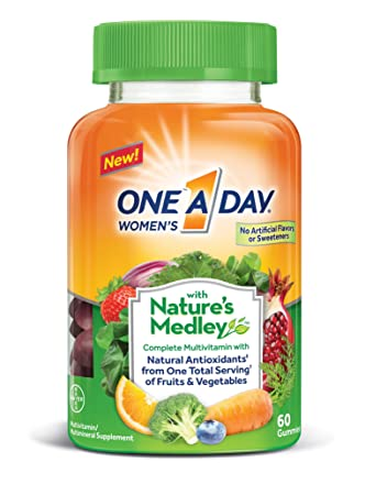 One A Day Womens with Natures Medley Complete Multivitamin Supplement Gummies, ...