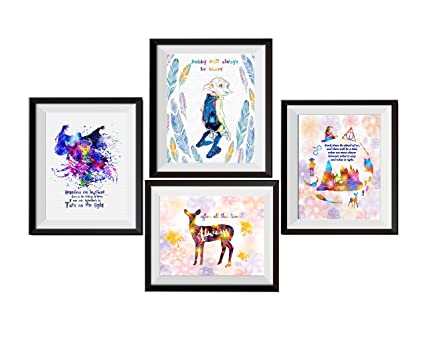 Uhomate 4 pcs Set Dobby Harry Potter Always Lord Voldemort Harry Potter Quote Abstract Art Canvas  sc 1 st  Amazon.com & Amazon.com: Uhomate 4 pcs Set Dobby Harry Potter Always Lord ...