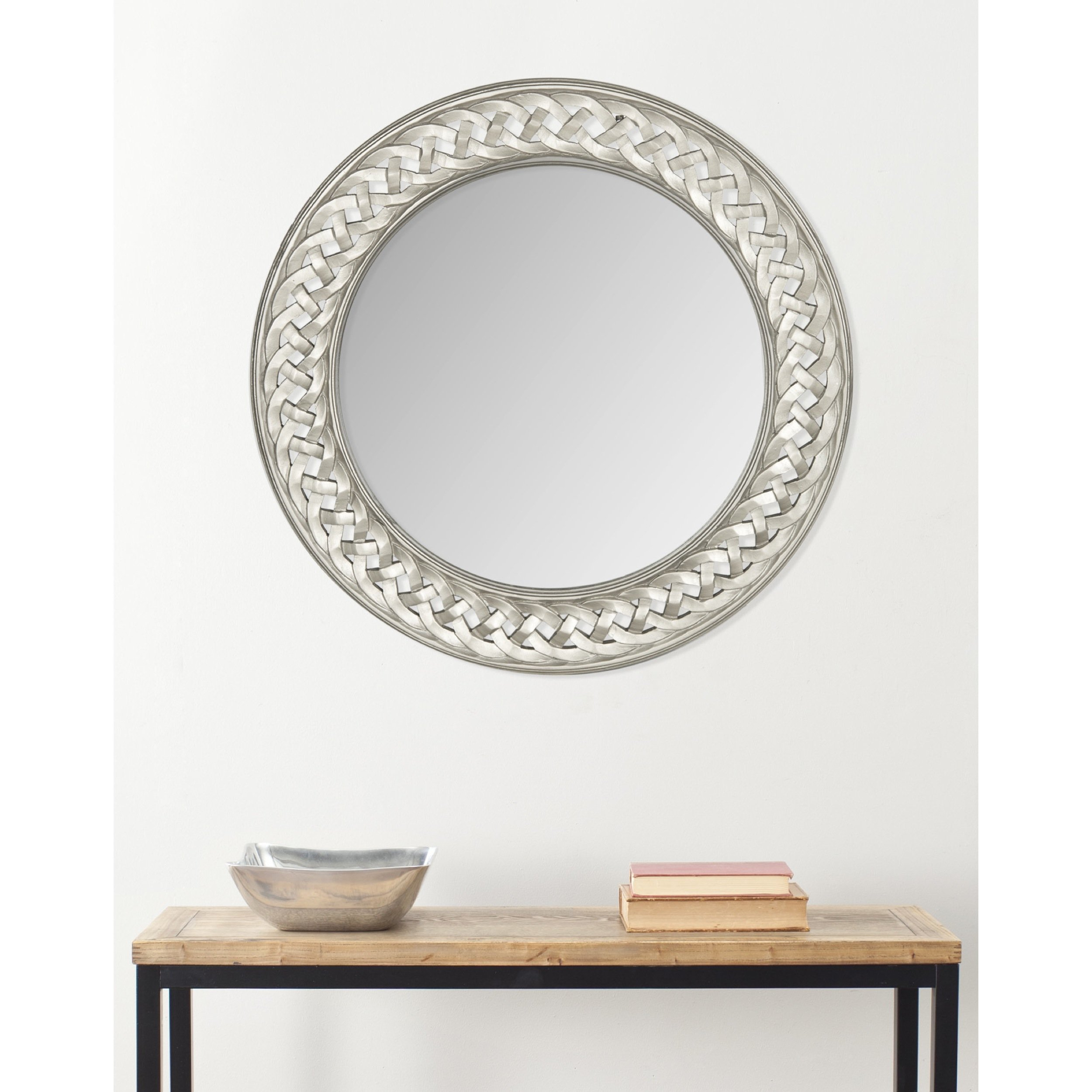 Safavieh Home Collection Braided Chain Mirror, Pewter
