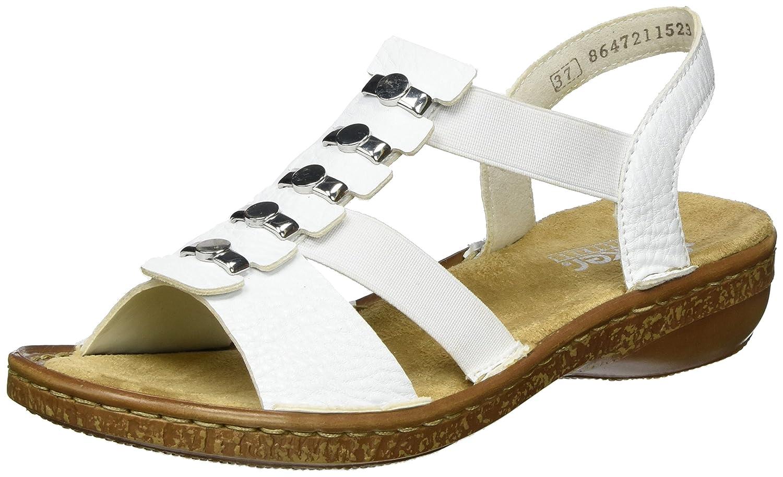 Rieker Damen 62850 Offene Sandalen mit Keilabsatz  | Offizielle  | New Products  | Für Ihre Wahl