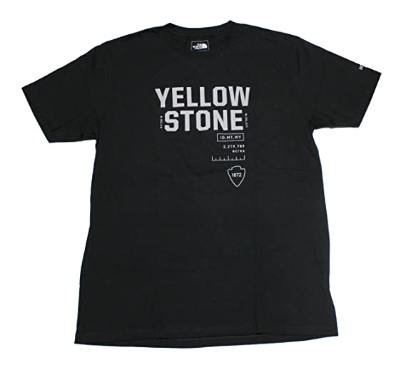 8058ce7cf The North Face Men's Yellowstone National Park Tee (Black) (Medium)