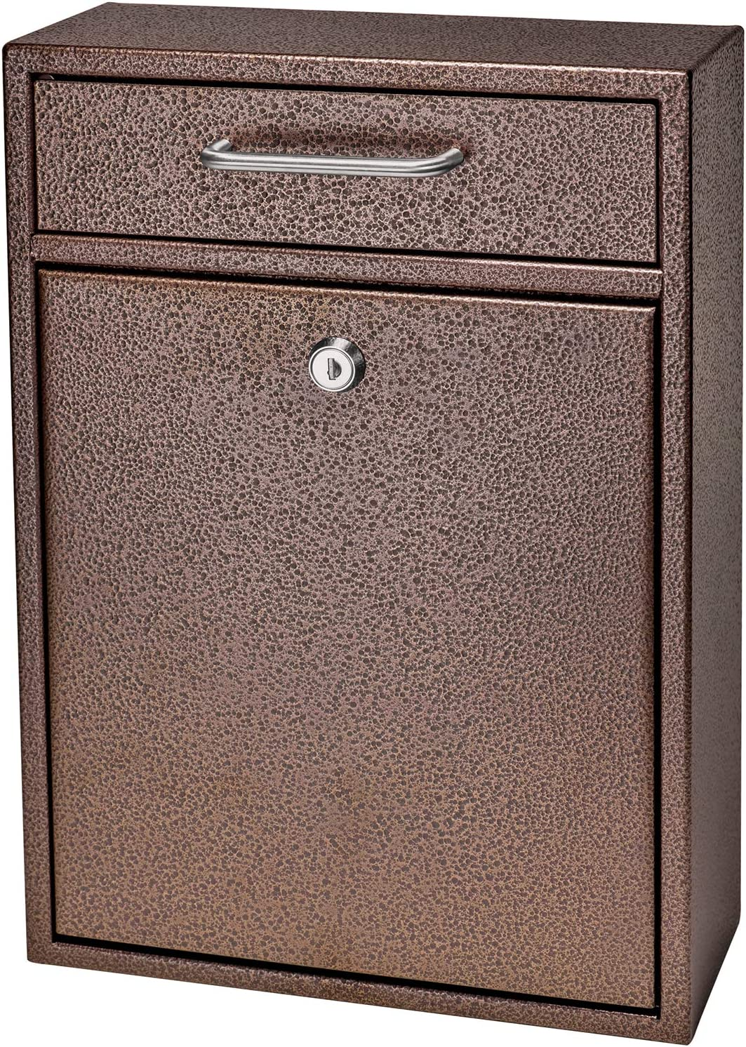 Mailbox Wall Mount Drop Box Locking Security Post Letters Door Steel Heavy Duty