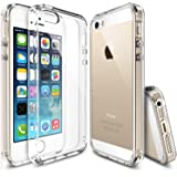 iPhone SE / 5S / 5 Case, Ringke [FUSION] Crystal Clear PC Back TPU Bumper [Drop Protection/Shock Absorption Technology] for Apple iPhone SE 2016 / 5S 2013 / 5 2012 - Crystal View