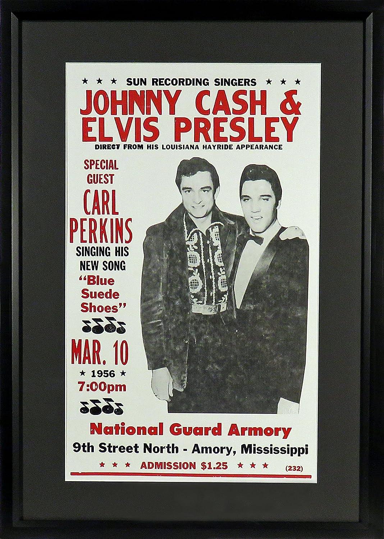 Johnny Cash y Elvis Presley sol grabación cantantes cartel ...