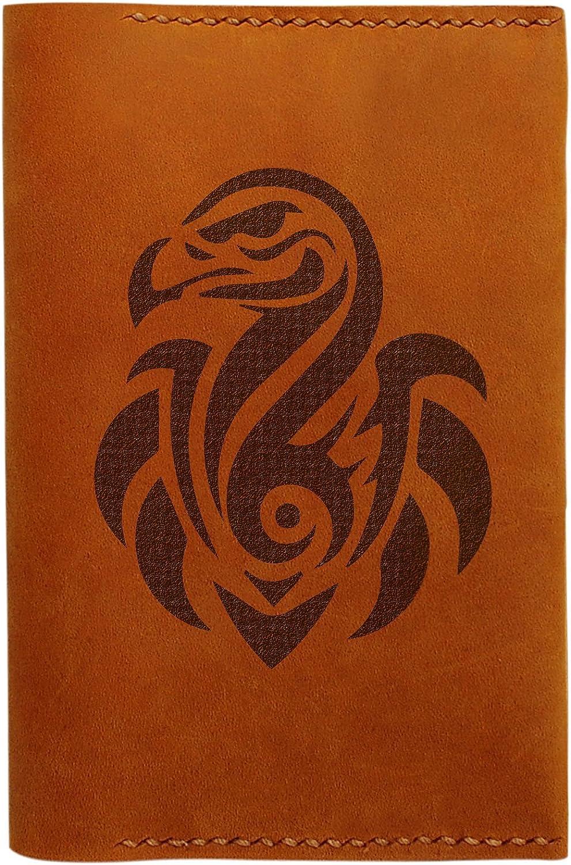 Ostrich Tatoo Handmade Genuine Leather Passport Holder Case HLT/_01