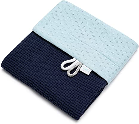 EliMeli Manta para bebé 100% algodón – Manta ligera de tela cuadrada para el verano y