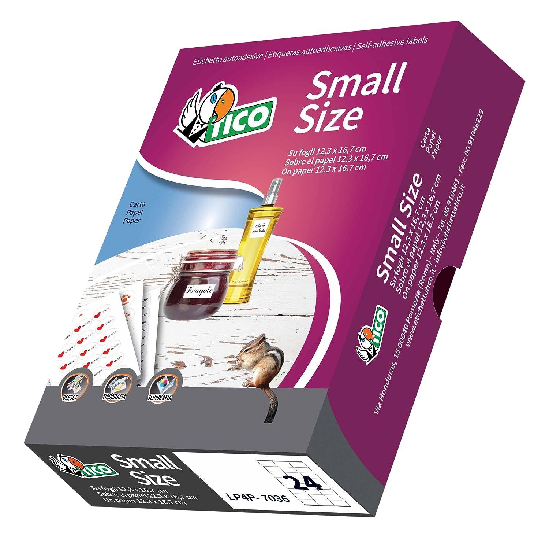 Tico p-c36–Etichette rotonde, 36mm, colore: bianco Avery Tico Srl