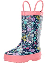 25ca3fdb07cf58 Carter s Kids Girl s Cleo Rubber Rainboot Rain Boot