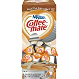NESTLE COFFEE-MATE Coffee Creamer, Vanilla Caramel, liquid creamer singles, Pack of 50