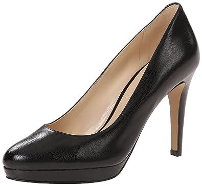 Nine West Women's Beautie Leather Dress Pump, Black, ...