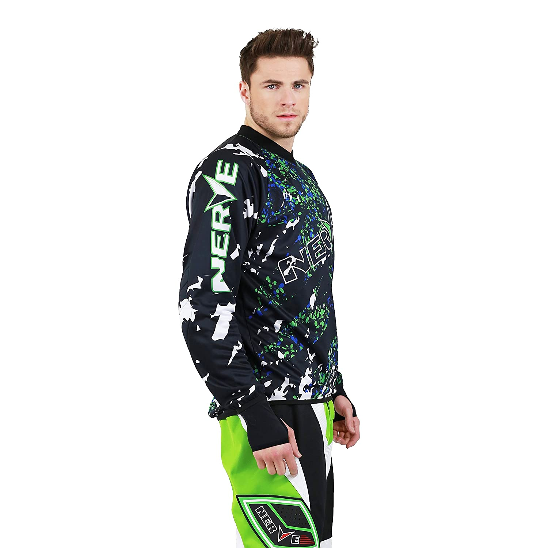 Verde Nerve Camiseta de Motocross para Hombre L