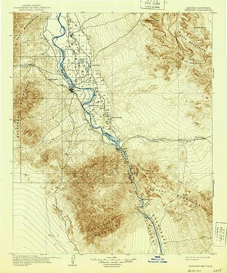 Amazon Com Yellowmaps Needles Ca Topo Map 1 125000 Scale 30 X 30
