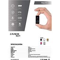 Zanco Tiny T1 2G Teléfono Celular más pequeño del Mundo, Negro, SMS, Bluetooth, música, Bluetooth, dialer, Desbloqueado, CE, ROHS, WCDMA y gsm 13, Cambiador de Voz y 14 Idiomas con Funda de Silicona