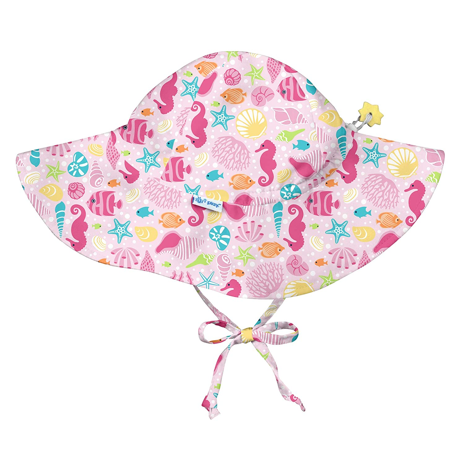 i play. Baby Girls Brim Sun Protection Hat-Pink Sealife