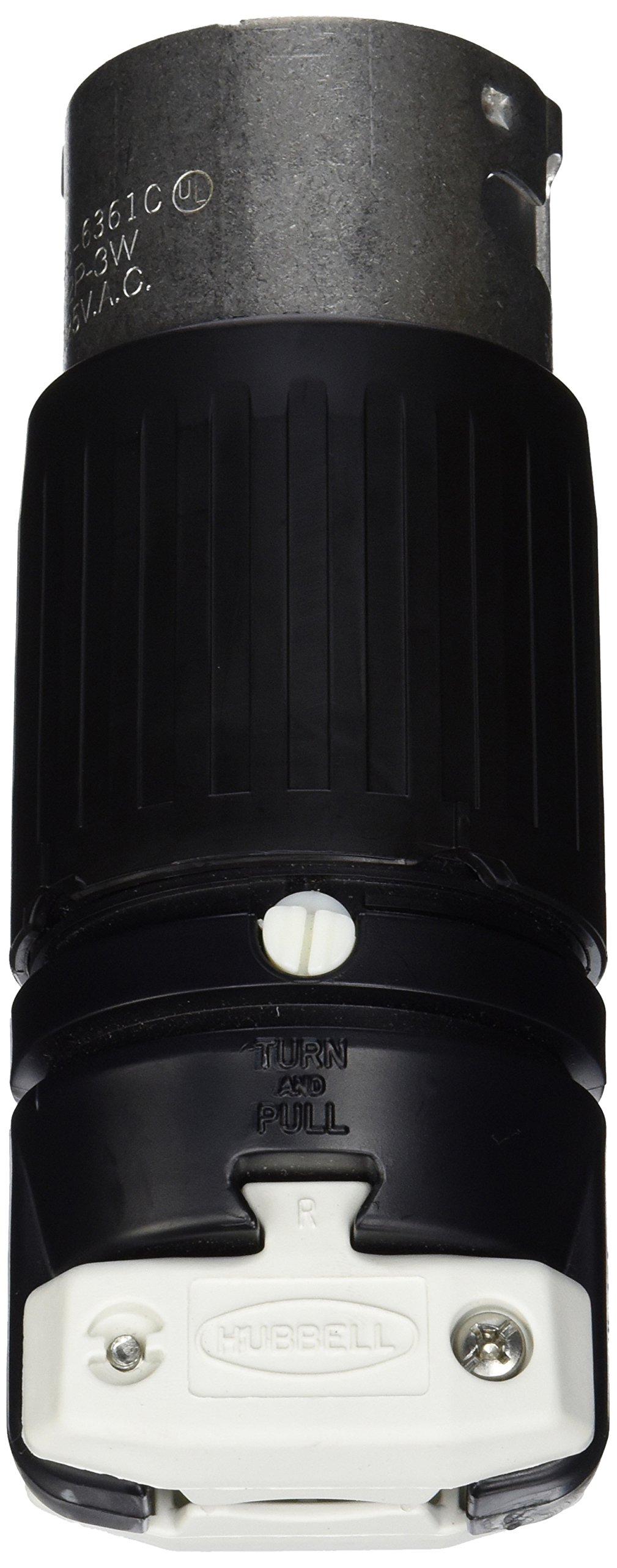 Hubbell CS6361C Locking Plug, 50 amp, 125V, 2 Pole and 3 Wire
